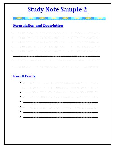 Note Templates  Free Word Templates