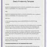 Deed-of-Indemnity-Template
