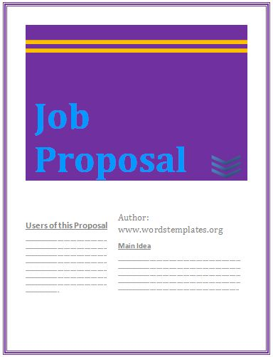 Employment Proposal Template Archives - Free Word TemplatesFree ...