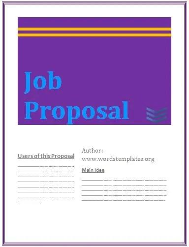 job proposal template free
