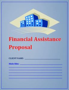 Financial Assistance (Loan) Proposal Template