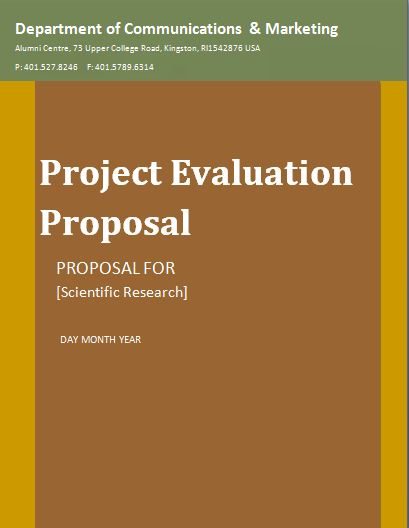 Sample Project Evaluation Proposal Template Free Word Templates