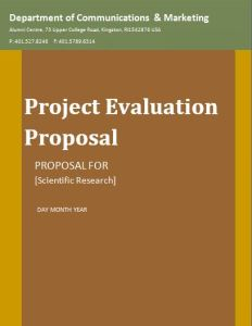 Project Evaluation proposal template