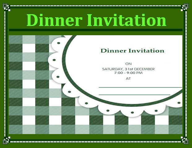 Dinner Invitation Template - Free Word TemplatesFree Word Templates