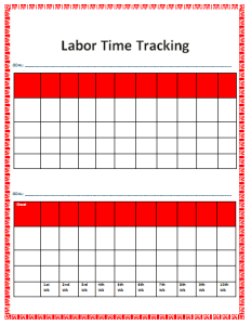 labor time tracked template