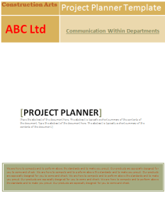 project planning template