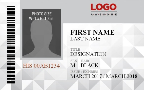 ID Badge Template 7