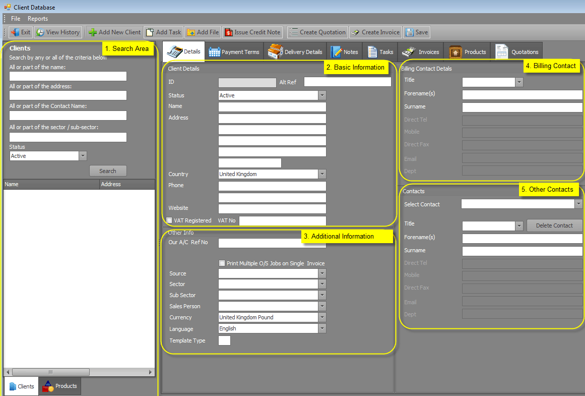 3 Excel Client Database Templates