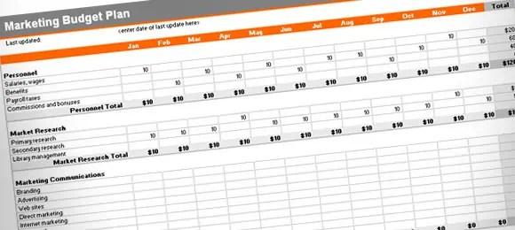 marketing plan budget template image 4