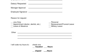 5 vacation request form templates excel xlts