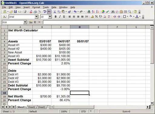 debt calculator excel template 3