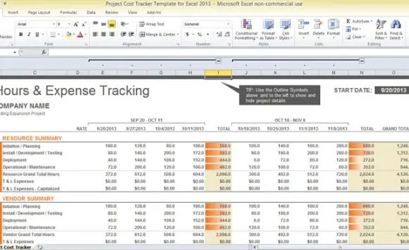 excel finance template