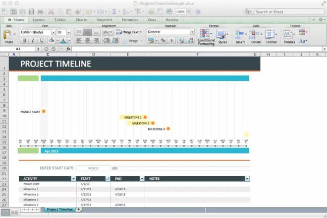 project timeline template 2