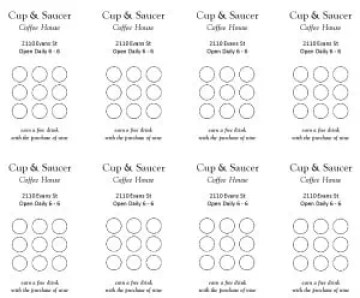Punch Card Templates Excel Xlts - Free editable punch card template