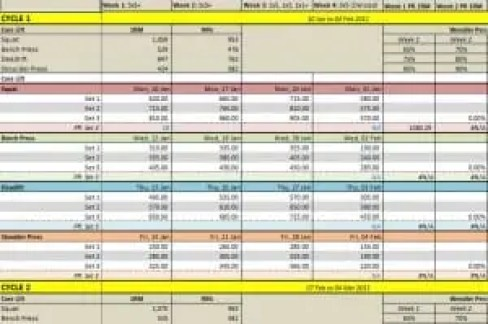 3 weight training spreadsheet templates excel xlts. Black Bedroom Furniture Sets. Home Design Ideas