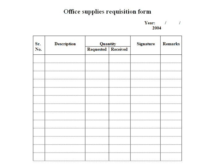 4 Requisition Form Templates Excel Xlts