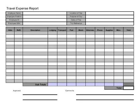 Travel Log Template - Excel Xlts
