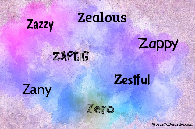 adjectives beginning with Z