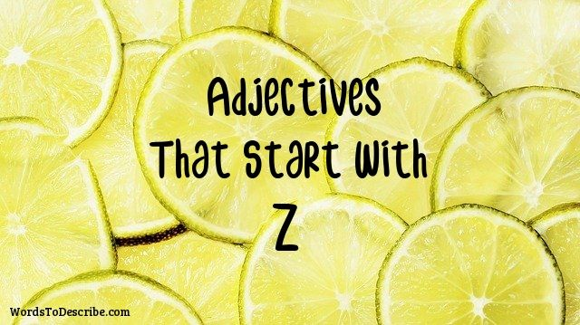 adjectives that begin with z