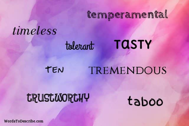Adjectives That Start With T