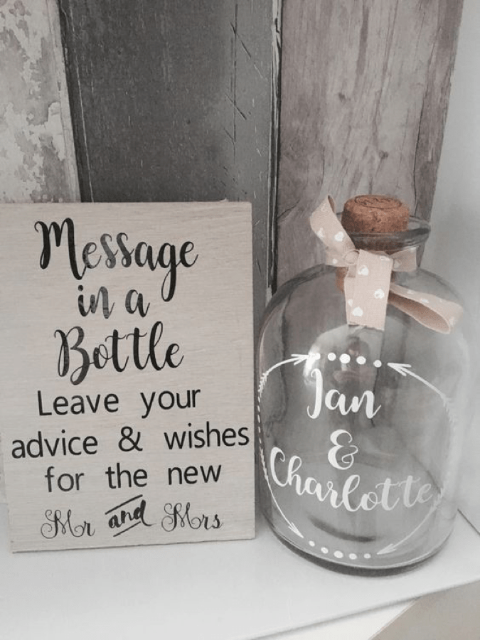 Message in a Bottle for Wedding Messages