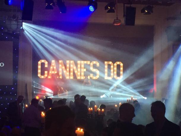 CANNES DO light up letters for Place North West's event at The Principal Hotel in Manchester