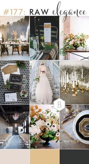 Combining the colours ivory and black make for a classic wedding colour combination