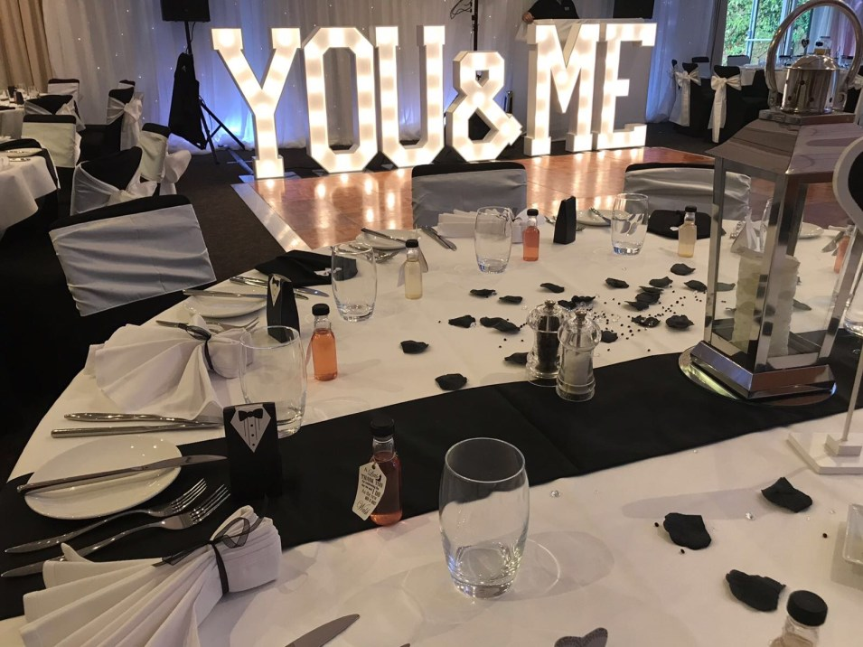 YOU & ME letter lights for hire