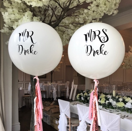 Wedding Balloons with tassels