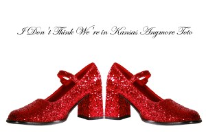 Ruby red slippers from Wizard of Oz