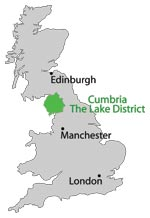 Image result for the lake district map