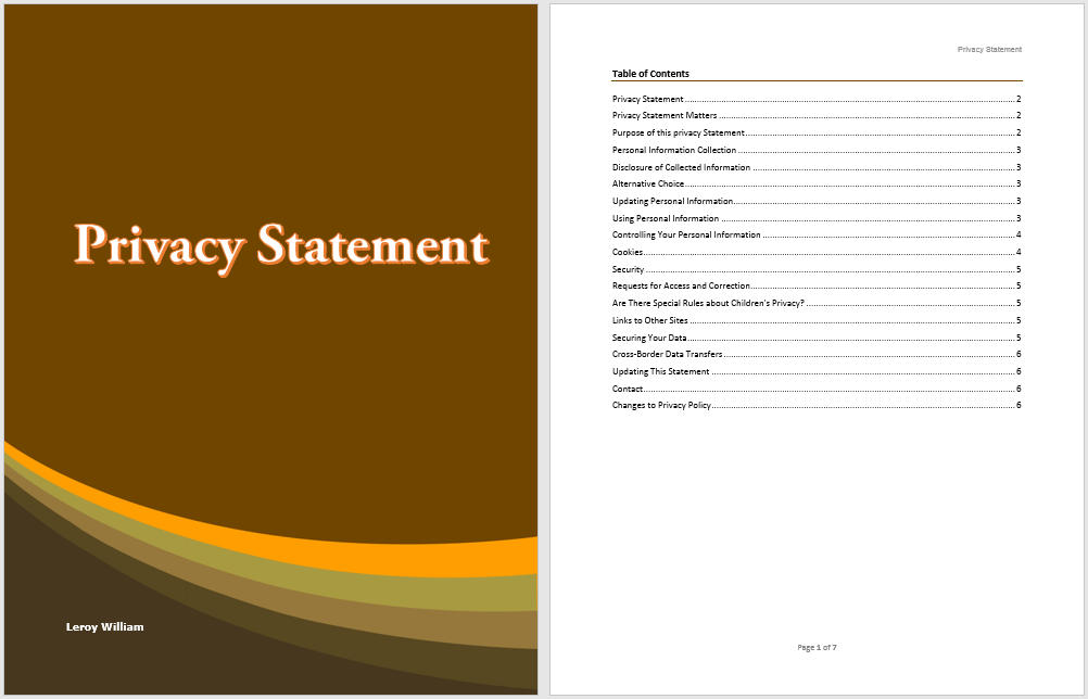 Privacy Statement Template Word Templates For Free Download