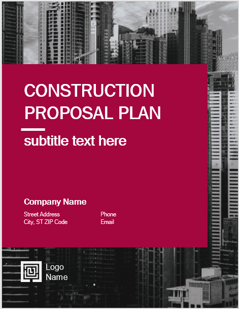 Don't overlook the basic elements of the construction proposal. 14 Free Construction Proposal Templates Word Templates For Free Download