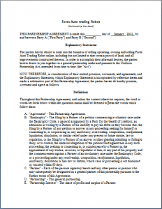 A provision sets forth the purpose of the jv. Strategic Partnership Agreement Template Word Templates