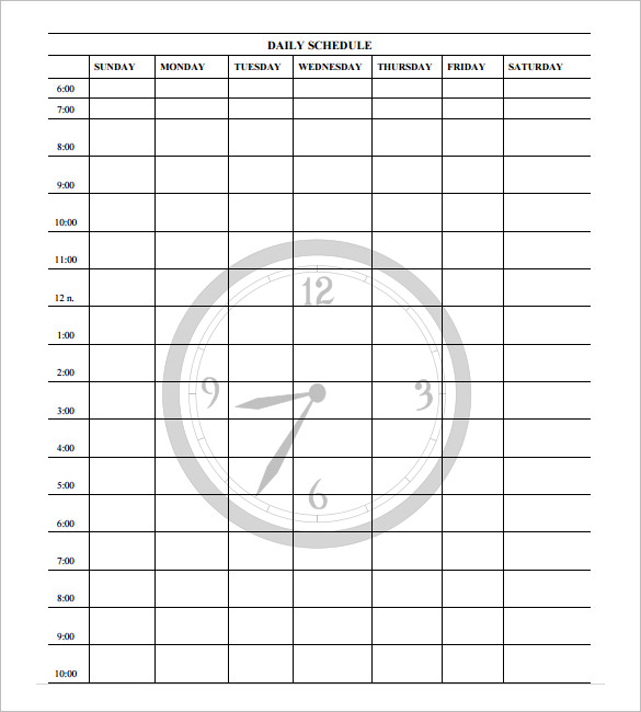 21 Sample Free Daily Schedule Templates & Daily Planners