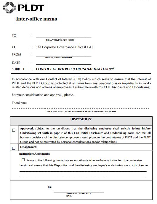 memorandum to employees examples
