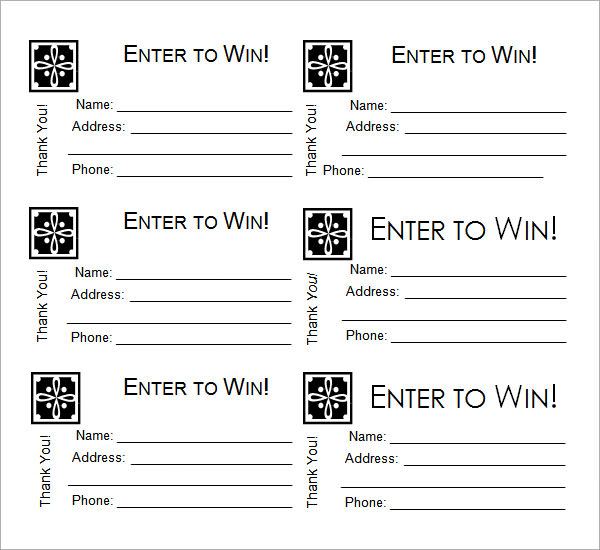 Raffle Ticket Templates - Word Templates Docs