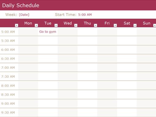 microsoft word schedule templates