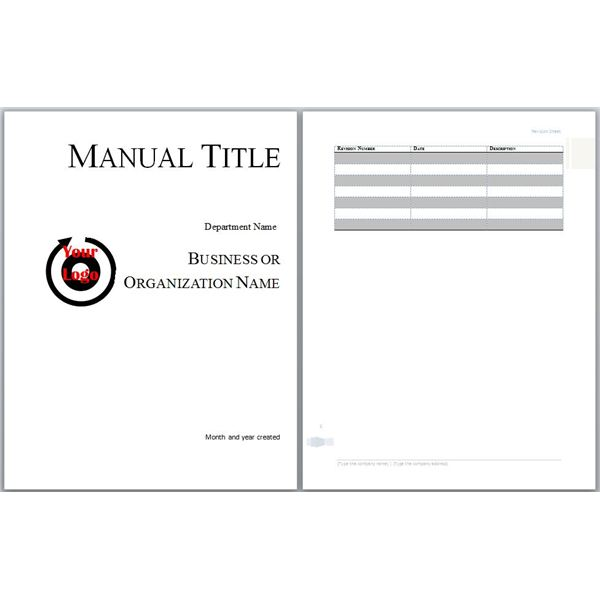Training Manual Templates Word