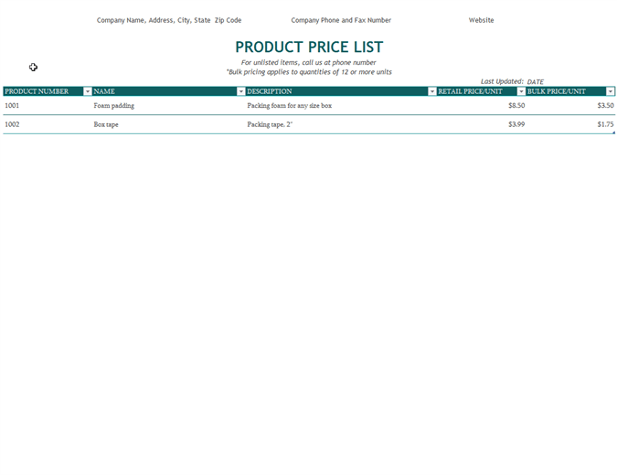 You Can See MS Word Price List Templates Below That Are Free To Download  For All Of You.  Price List Template Word