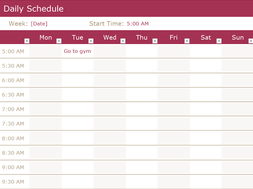 Sample Free Daily Schedule Templates & Daily Planners