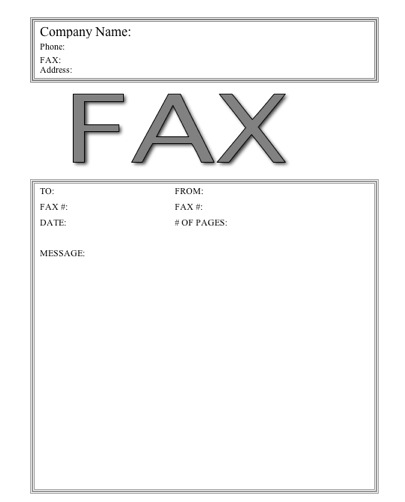free online fax cover sheet