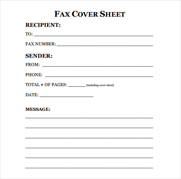 Editable Fax Cover Sheet Template Karlapa Ponderresearch Co
