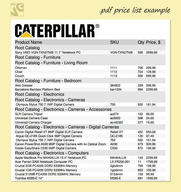 make a price list
