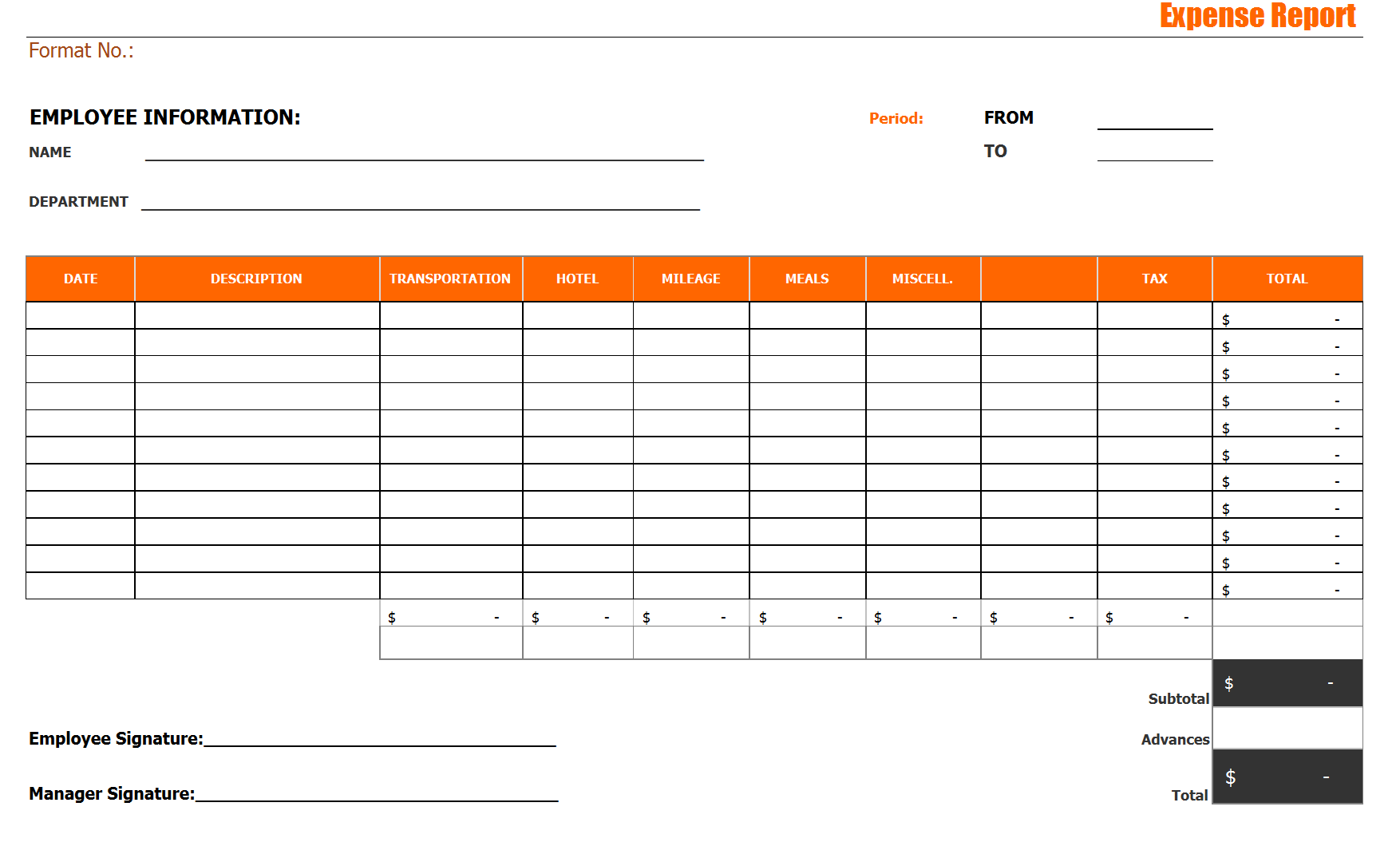 28 Expense Report Templates