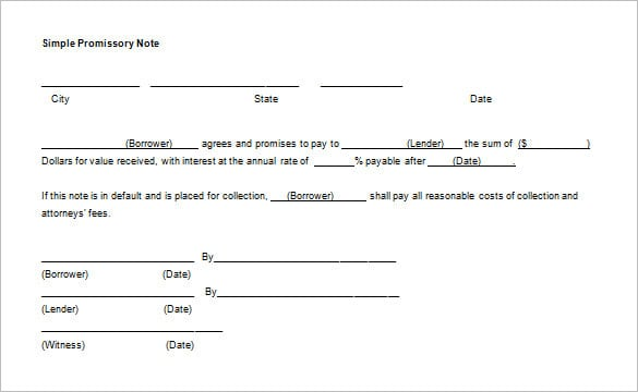 Best Collection of Promissory Note Templates