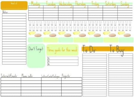 Sample Free Weekly Schedule Templates - Planners