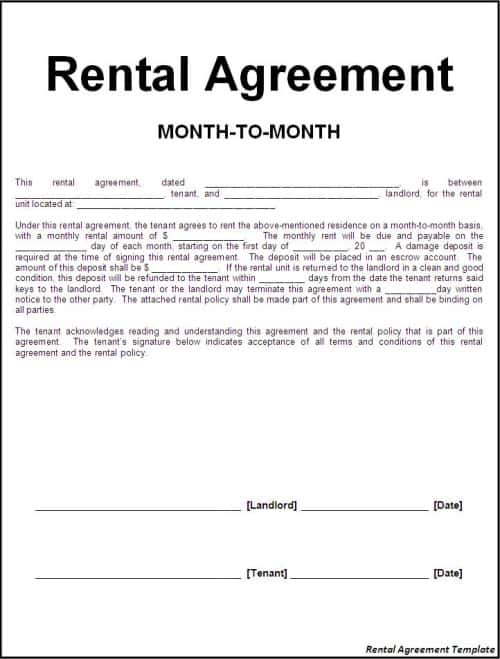 8+ Room Rental Agreement Templates
