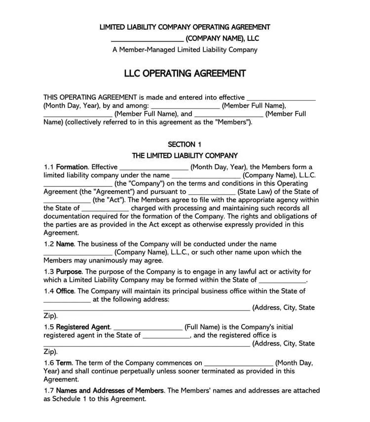 An operating agreement is an important document used by members of a limited liability company to outline rules and regulations determining how a business. Free Multi Member Llc Operating Agreement Templates By State