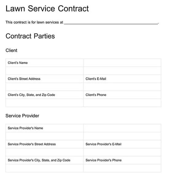 Although a maintenance schedule is usually frequently present in big homes and offices, it is usually beginning to find favor with others also. Free Lawn Care Contract Templates Examples Word Pdf